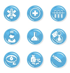 Medical nurse icons vector image