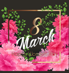 8 match women day greeting card vector image
