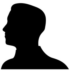 unknown male person  eps 10 vector image
