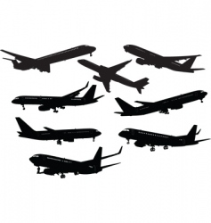 eight planes vector image