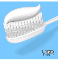 Toothbrush with toothpaste vector