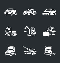 set of transport icons vector image