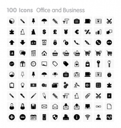 Icons office and business vector