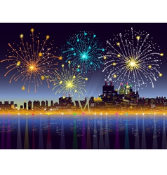 New years night city vector