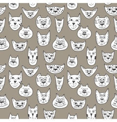 Brown pattern with cats vector image