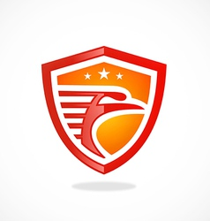 Bird eagle mascot shield logo vector
