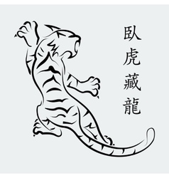 Tiger white background vector