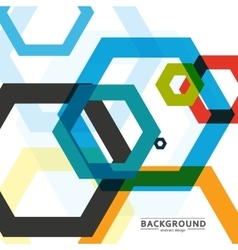 Background of large colored hexagons eps vector
