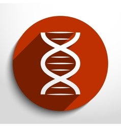 Dna web icon vector