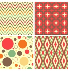 abstract geometric pattern set vector image