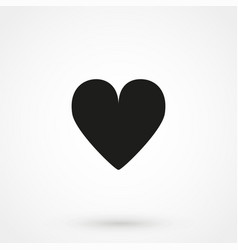 Heart icon simple flat vector