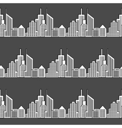 Seamless city background vector