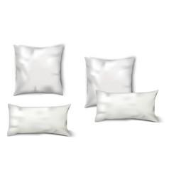 Blank White Pillows Set vector image