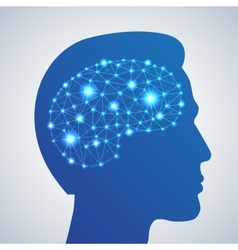 Brain network icon vector