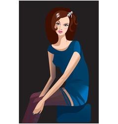Brunette girl vector