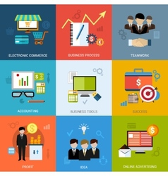 Business Concept Set vector image vector image