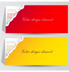 colorful paper banners for text vector image vector image