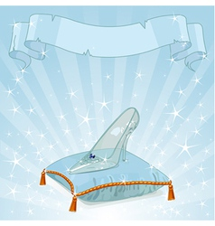 Crystal slipper background vector image
