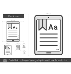 Ebook line icon vector