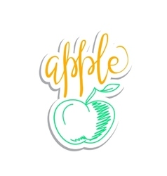 eco friendly apple concept - design element vector image vector image