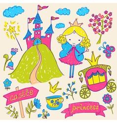 Fairy tale princess vector