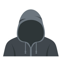 Figure in a hoodie icon isolated vector