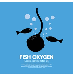 Fish Oxygen vector image