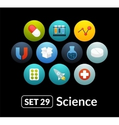 Flat icons set 29 - science and medicine vector