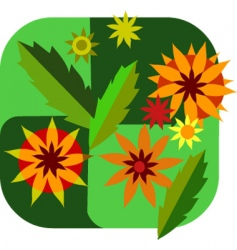 flowers and leaves vector image vector image