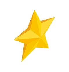 Gold star icon isometric 3d style vector image