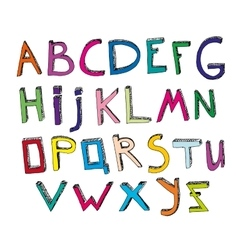 Hand Drawn Alphabet 01 A vector image