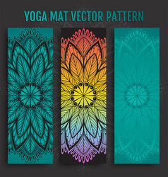 hand drawn yoga mat pattern vector image vector image