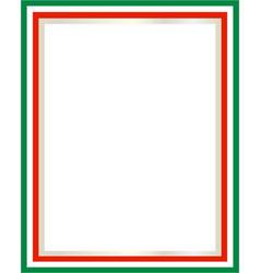 Italian flag border vector