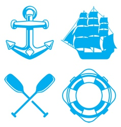 Nautical Ocean Symbols vector image