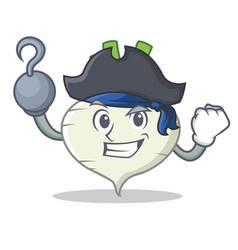 Pirate turnip character cartoon style vector