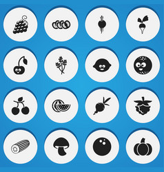 Set of 16 editable kitchenware icons includes vector