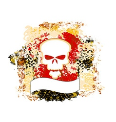 Skull grunge background vector