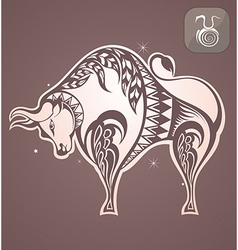 Taurus zodiac sign vector image vector image