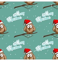 Xmas seamless pattern funny sparrows vector