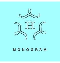 Set of monogram logo template vector