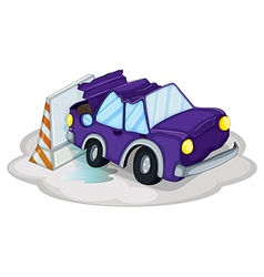 Violet car accident vector