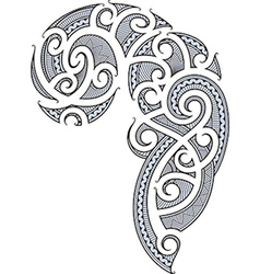 Maori tattoo design vector image