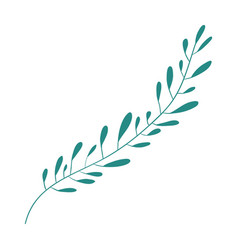 Hand drawing green color leaf with several vector