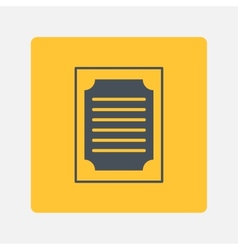Blank paper icon vector