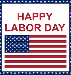 Happy labor day card vector