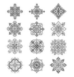 4 sided-mandala-pack vector image