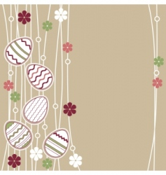 greeting card with Easter eggs vector image