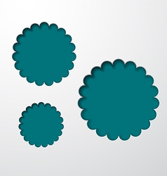 Paper blue round holes vector