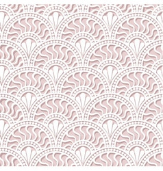 White scales lace seamless pattern vector