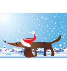Christmas hound vector